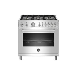 "Bertazzoni36"" Professional Series range - Gas oven - 6 brass burners - LP version"