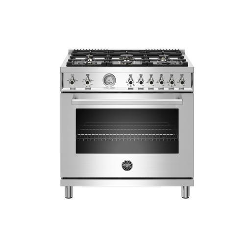 "Bertazzoni - 36"" Professional Series range - Gas oven - 6 brass burners - LP version"