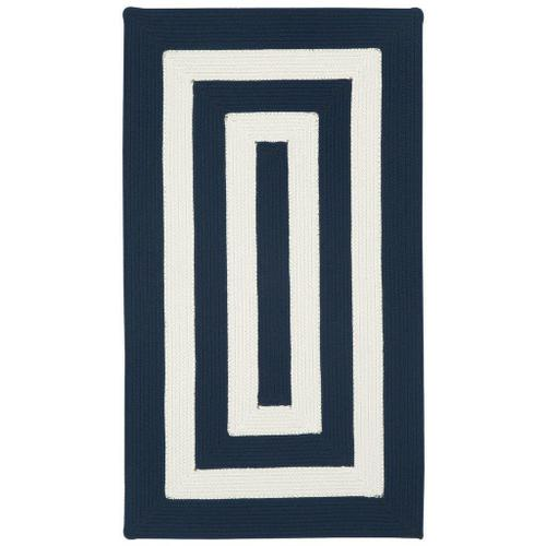 """Gallery - Cabana Stripes Navy Blue White - Concentric Rectangle - 20"""" x 30"""""""