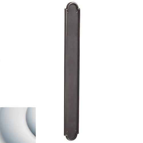 Baldwin - Satin Chrome San Francisco Push Plate