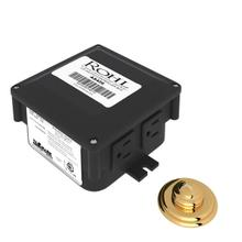 Decorative Luxury Air Activated Switch Button with Control Box for Waste Disposal - English Gold