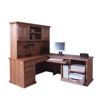 See Details - Forest Designs Traditional Hutch for 1050 Desk Portion: 66w x 42H x 13D (No Desk)
