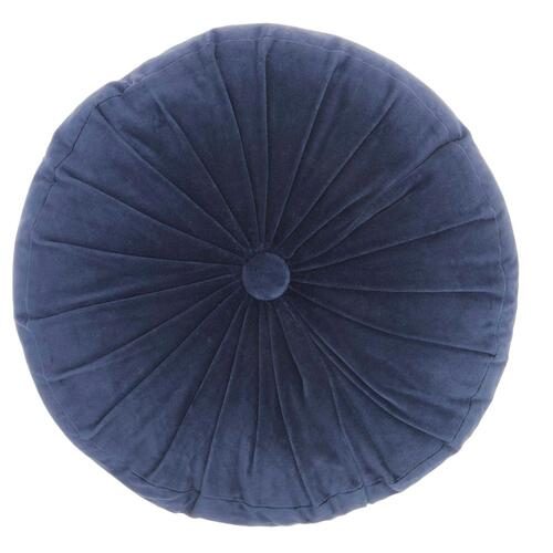 """Life Styles Rc190 Navy 16"""" X 16"""" Round Throw Pillow"""