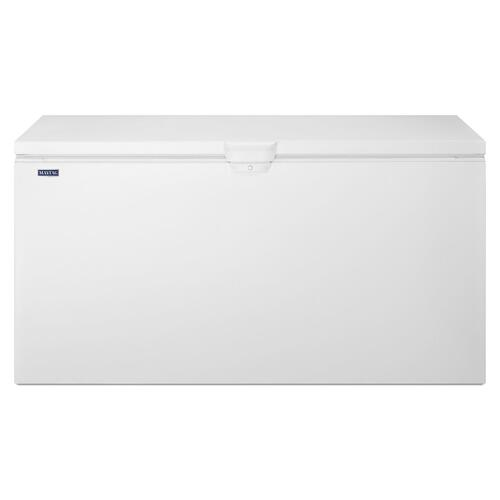 22 cu. ft. Chest Freezer with Door Lock White