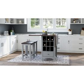 Asbury Park Counter Drop Leaf Table W/(2) Backless Stools