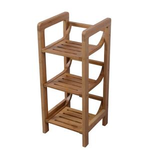 3-Shelf Freestanding Bamboo Towel Rack Product Image