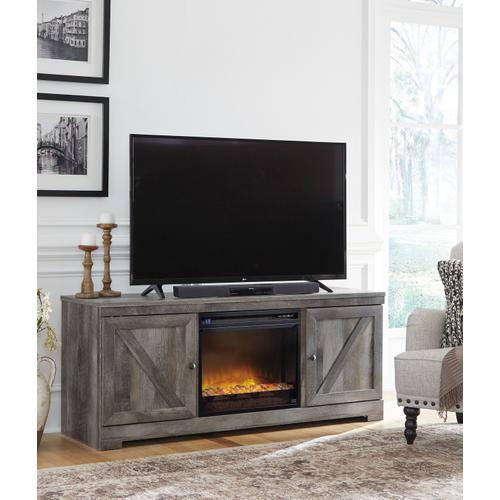 Wynnlow LG TV Stand W/Fireplace Insert Gray
