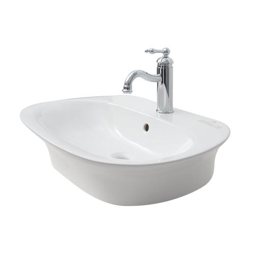 "Sensation 650 Wall-Hung Sink - 8"" Widespread / White"