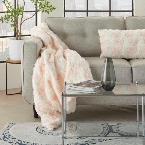 "Fur L1940 Ivory 50"" X 60"" Throw Blanket"