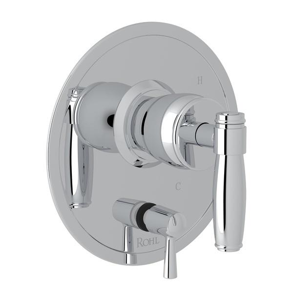 Polished Chrome Zephyr Pressure Balance Trim With Diverter with Metal Lever Zephyr Series Only