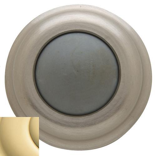 Baldwin - Non-Lacquered Brass Wall Flush Bumper