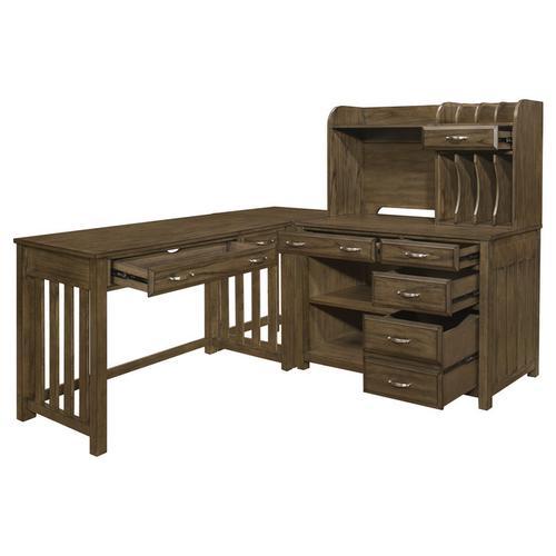 Gallery - 4pc Corner Desk (Desk+Corner+Credenza+Hutch)