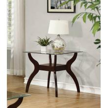 Casual Cappuccino End Table