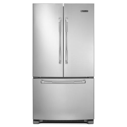 """JennAir - 69"""" Counter-Depth, French Door Refrigerator with Internal Water/Ice Dispensers Stainless Steel"""