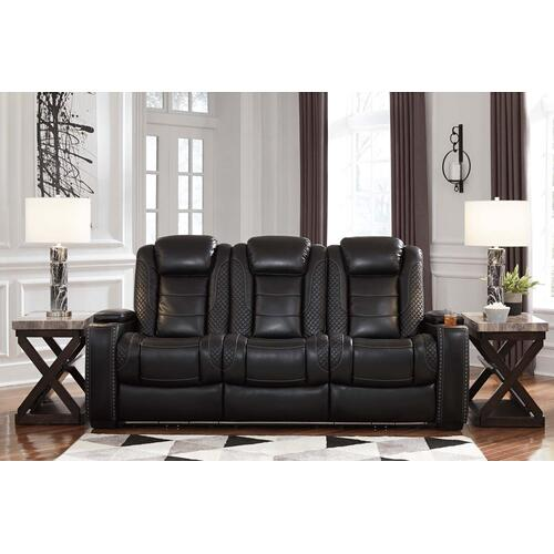Party Time Power Reclining Sofa w/ Adjustable Headrest