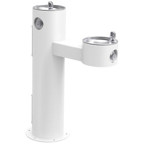 Elkay - Elkay Outdoor Fountain Bi-Level Pedestal Non-Filtered, Non-Refrigerated White