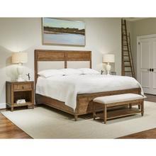 Bluffton King Upholstered panel bed - King / Southlake