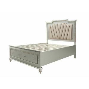 ACME Kaitlyn Eastern King Bed - 27227EK - PU & Champagne