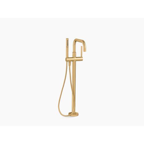 Kohler - Vibrant Brushed Moderne Brass Floor-mount Bath Filler Trim With Handshower