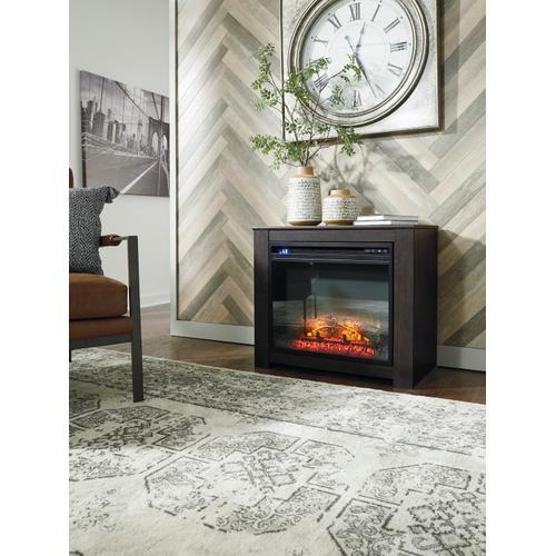 Harlinton Fireplace Mantel w/Fireplace Insert Two-Tone