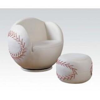 2pc Pk Baseball Chair & Ottoman