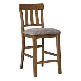 Flaybern Upholstered Barstool Brown