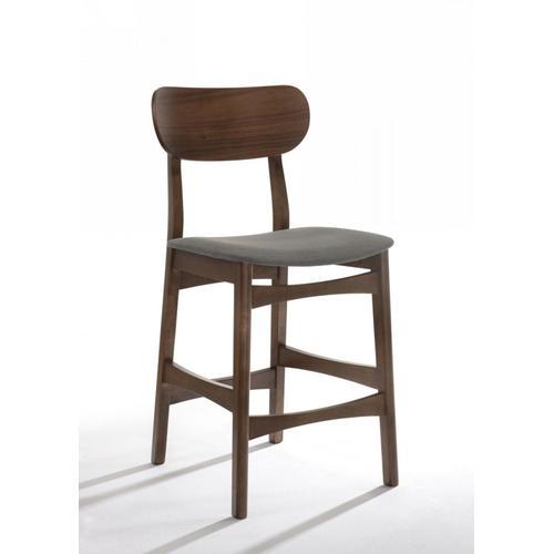VIG Furniture - Modrest Lynn - Modern Grey & Walnut Bar Chair (Set of 2)