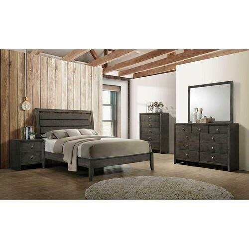 Coaster - Wakefield King Bed with Mirrored Dresser and Nightstand
