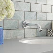 View Product - Serin Wall-Mount Proximity Faucet, Battery Powered - Polished Chrome