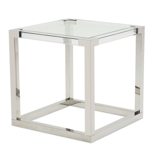 Square End Table (2 Pc) - Stainless Steel Legs