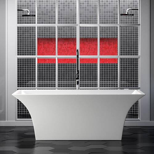 "Simone 67"" Acrylic Tub"