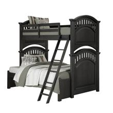 Kids Twin-to-Full Bunk Bed Extension Accessory in Charcoal Brown
