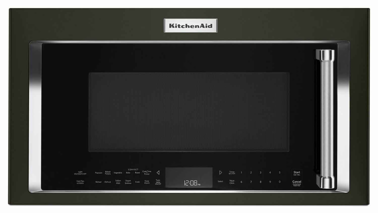 """Kitchenaid30"""" 1000-Watt Microwave Hood Combination With Convection Cooking - Black Stainless Steel With Printshield™ Finish"""