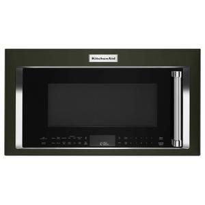 """30"""" 1000-Watt Microwave Hood Combination with Convection Cooking - Black Stainless Steel with PrintShield™ Finish Product Image"""