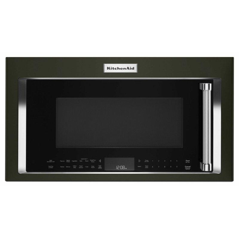 """30"""" 1000-Watt Microwave Hood Combination with Convection Cooking - Black Stainless Steel with PrintShield™ Finish"""