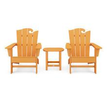 View Product - Wave 3-Piece Adirondack Set with The Ocean Chair in Tangerine