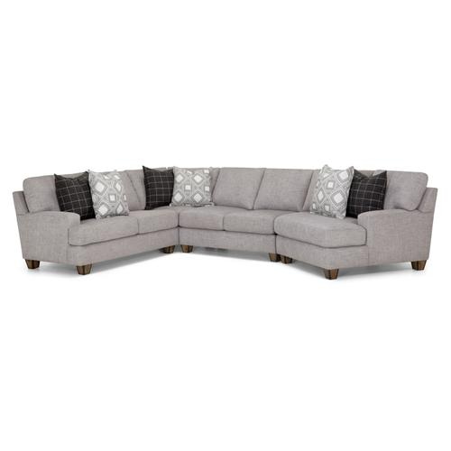 3-Piece Belmont Sectional in Belmont Nature Fabric