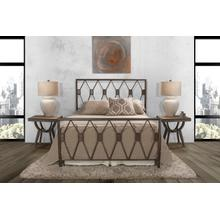 Tripoli Full Bed Set Without Rails (black Pewter)