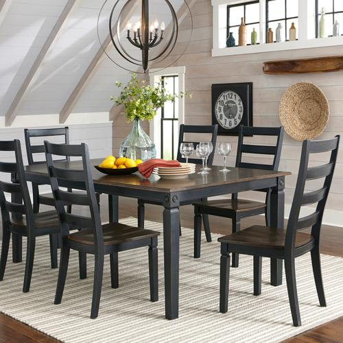 Glennwood Side Chair  Black & Charcoal