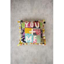 See Details - you + me kantha pillow