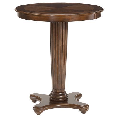 Gallery - Ambassador Bar Height Bistro Table, Medium Brown Cherry