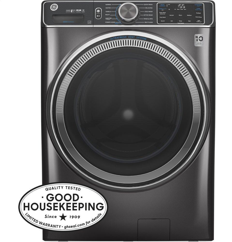 GE5.0 Cu. Ft. Capacity Smart Front Load Energy Star® Steam Washer With Smartdispense™ Ultrafresh Vent System With Odorblock™ And Sanitize + Allergen