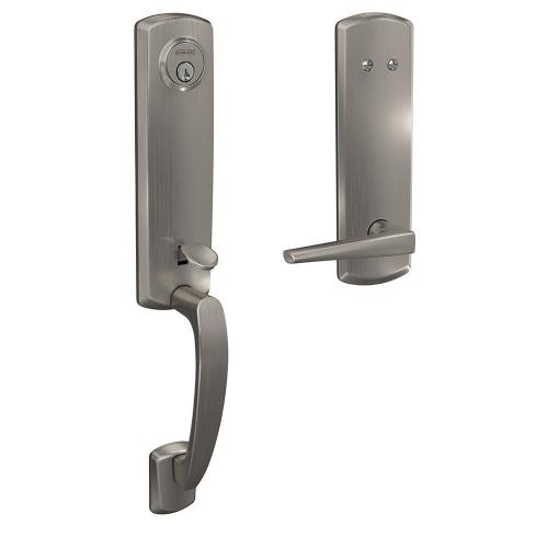 Custom Greenwich 3/4 Trim Inactive Handleset with Eller Lever - Satin Nickel