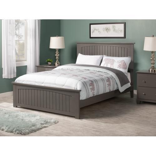 Atlantic Furniture - Nantucket Full Bed with Matching Foot Board in Atlantic Grey