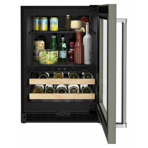 """KitchenAid - 24"""" Panel-Ready Beverage Center with Wood-Front Racks - Panel Ready PA"""