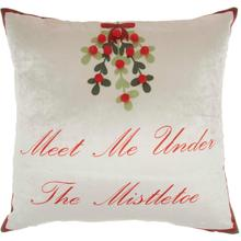 "Home for the Holiday L8529 Multicolor 18"" X 18"" Throw Pillow"