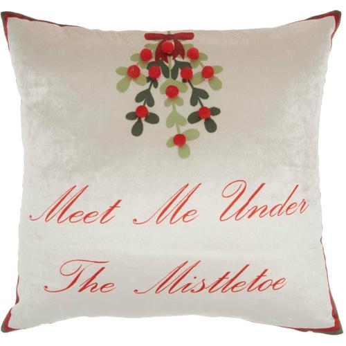 """Home for the Holiday L8529 Multicolor 18"""" X 18"""" Throw Pillow"""
