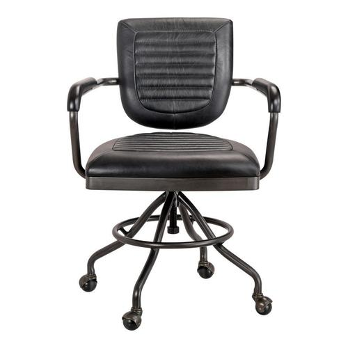Moe's Home Collection - Foster Swivel Desk Chair Black