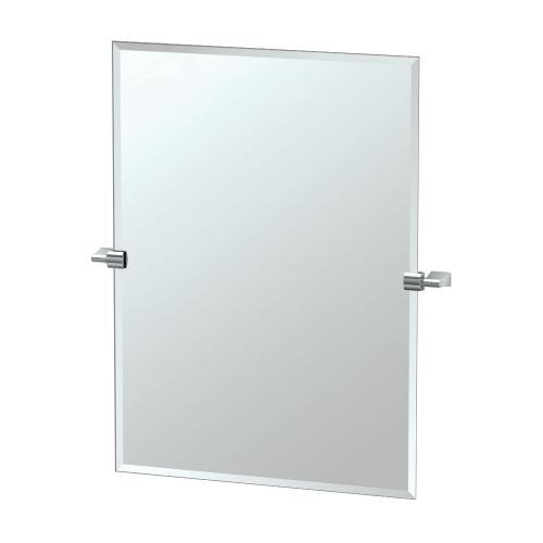 Bleu Rectangle Mirror in Chrome