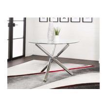 See Details - Amber-chrome 3 Leg Table Base